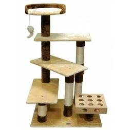 Go Pet Club 45-In Cat Tree & Condo Scratching Post Tower, Be