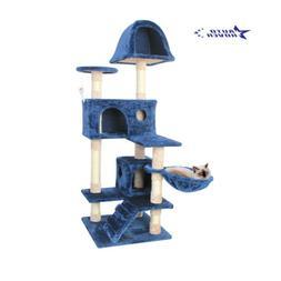 51'' Cat Tree Scratching Condo Tower Furniture Scratch Post