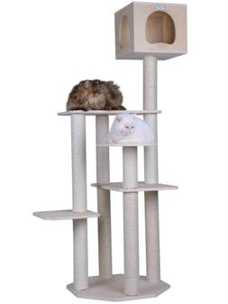 Armarkat 69-In Cat Tree & Condo Scratching Post Tower, Wood