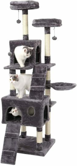 PAWZ Road 69 Inches Cat Tree with 2 Condos and 2 Perches, Ki