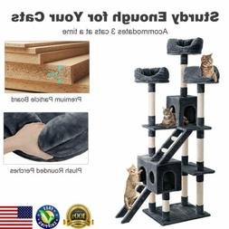 """70.3"""" Cat Tree Activity Tower Pet Kitty Furniture w/ Scratch"""