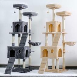 "80"" Cat Tree Tower Condo Furniture Scratching Post Pet Cat K"