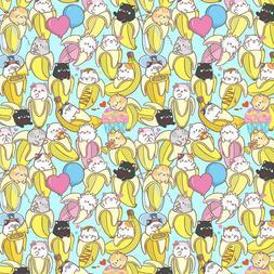 Bananya Cat Cotton Fabric-Cute Bananya Japanese Anime Charac