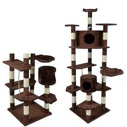 New Brown 80Cat Tree Condo Furniture Scratch Post Pet House