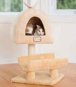 Armarkat Cat Kitten Tree Condo Bed Scratching Post Perch Gol