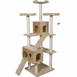 Cat Kitty Tree Tower Condo Furniture Scratch Post Pet Home B
