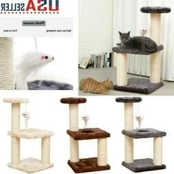 Cat Tree Cat Tower with Natural Sisal Scratching Posts Cat A