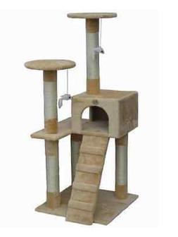 Cat Tree Furniture Scratcher Tower Post Go Pet Club Beige Co