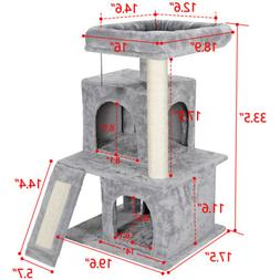 """Cat Tree Tower 34"""" STURDY Activity Center Large Playing Hous"""