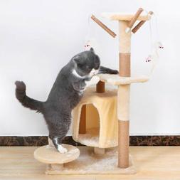 Cat tree Tower Great For Multiple Cats Scratcher Play House