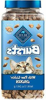 Blue Buffalo Bursts Crunchy Cat Treats Chicken 12-oz tub