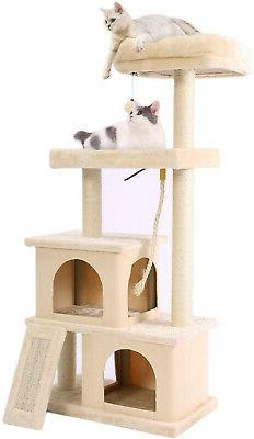 PAWZ Road Cat Tree Multilevel and Luxury Cat Towers 50 Inche