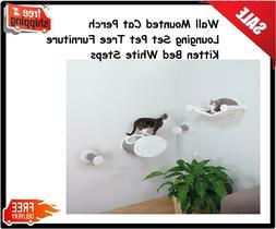 Wall Mounted Cat Perch Lounging Set Pet Tree Furniture Kitte